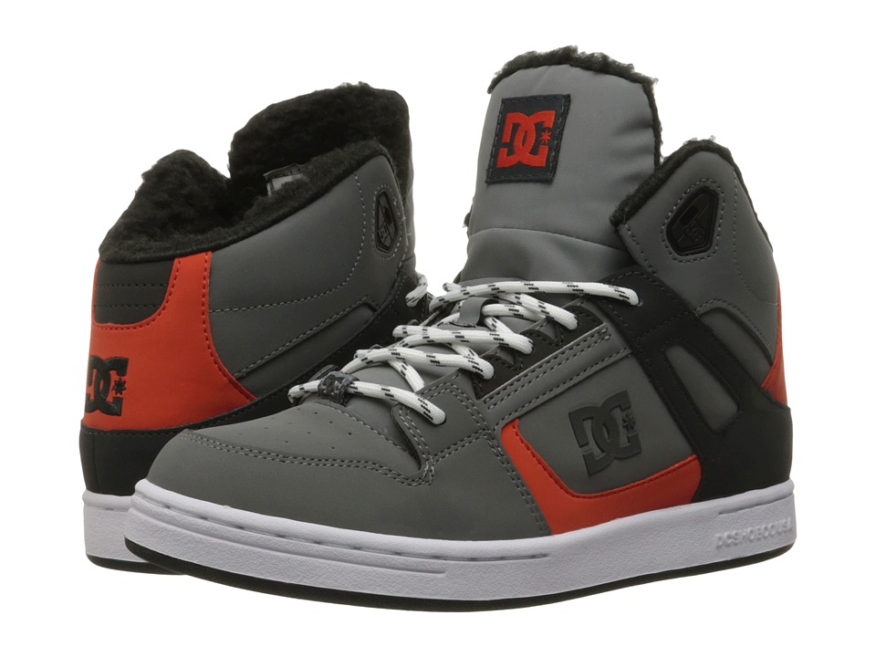 DC Kids - Rebound WNT (Little Kid) (Grey/Black/Orange) Boys Shoes