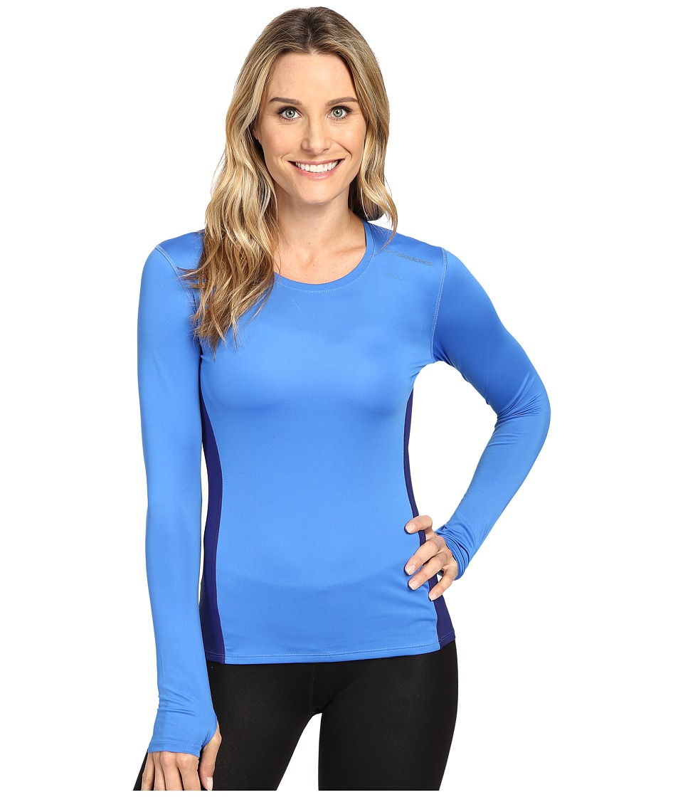 Brooks - Steady Long Sleeve Top (Wave/Marine) Women's Long Sleeve Pullover