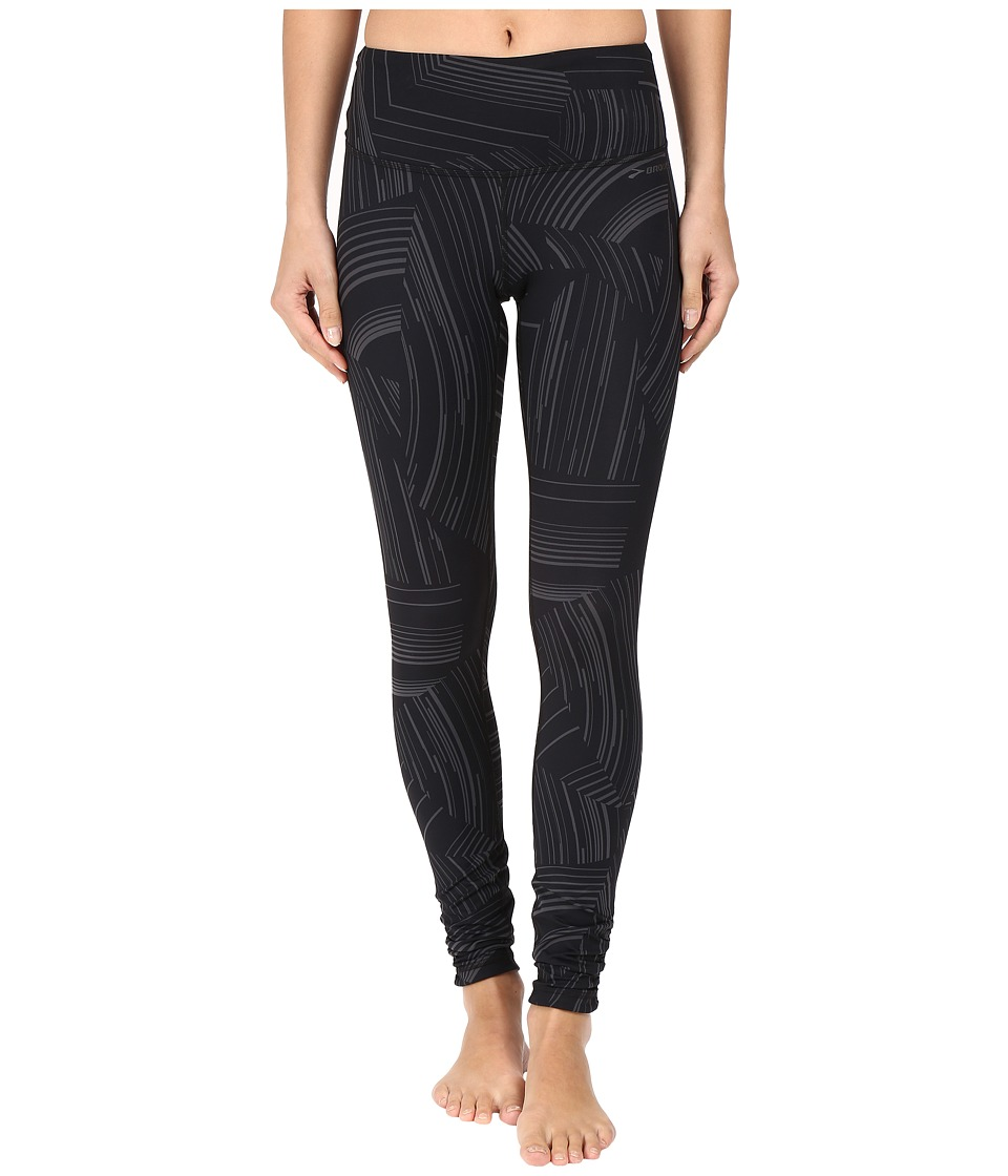 Brooks - Greenlight Tights (Black Cosmo/Asphalt) Women's Casual Pants