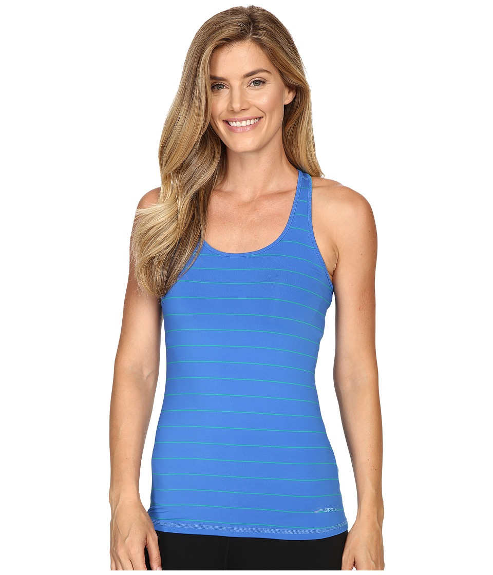 Brooks - Go-To Tank Top (Wave/Parque) Women's Sleeveless