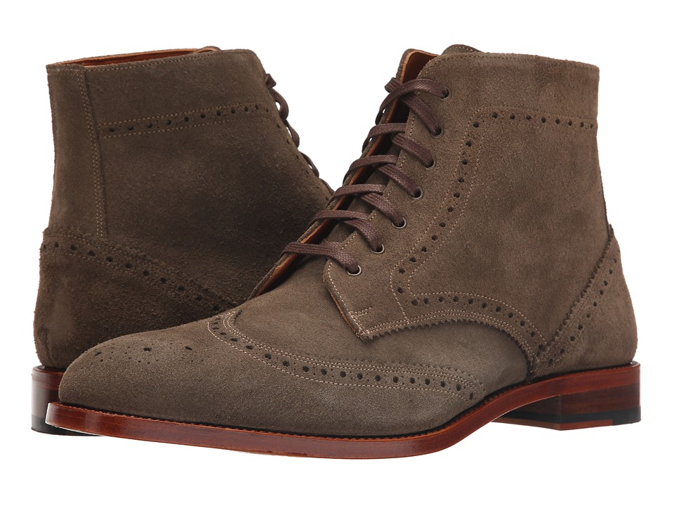 Crosby Square - Knightsbridge (Olive Suede) Men's Lace-up Boots