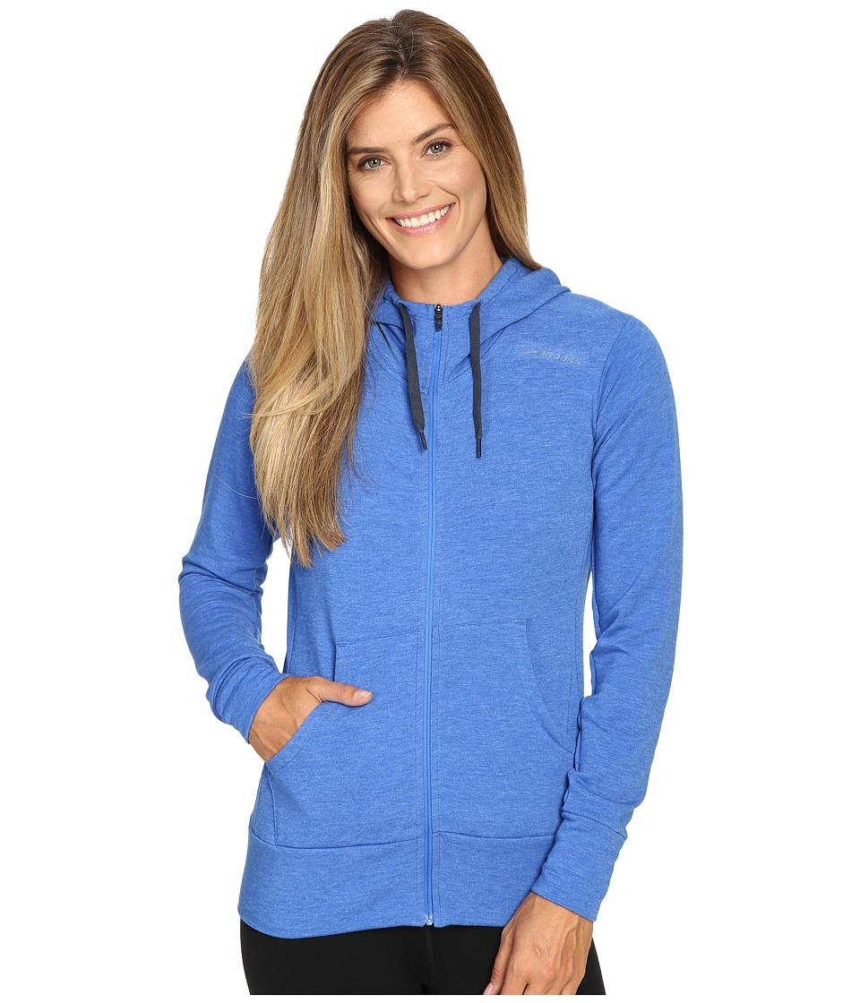Brooks - Distance Hoodie (Heather Wave) Women's Sweatshirt