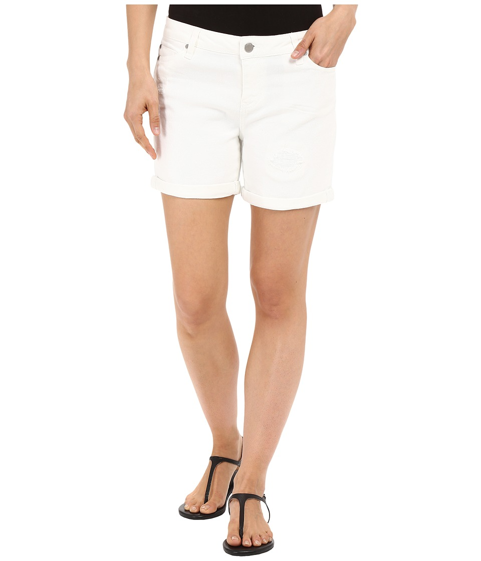 Liverpool - Vickie Lightweight Denim Shorts in Bright White (Bright White) Women's Shorts