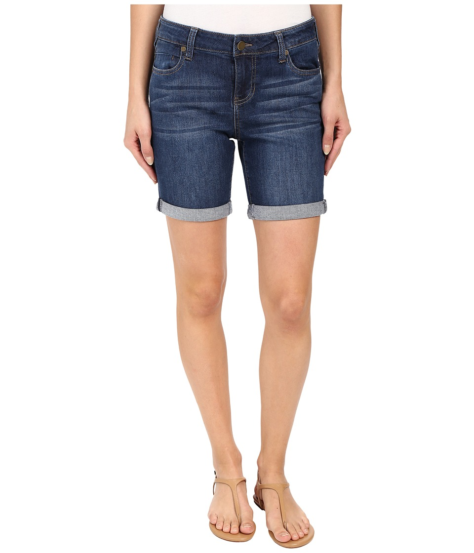 Liverpool - Corine Rolled Denim Shorts in Montauk Mid Blue (Montauk Mid Blue) Women