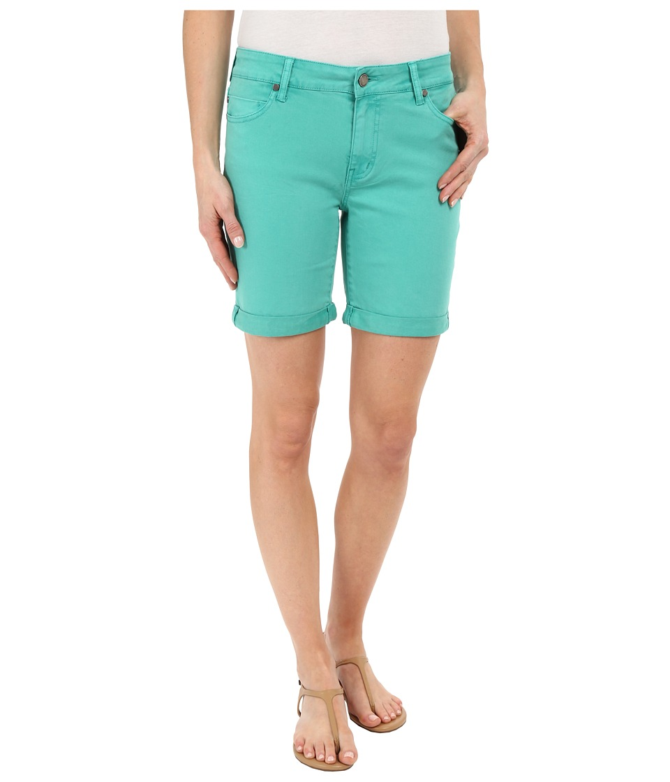 Liverpool - Corine Colored Denim Shorts in Aqua Green (Aqua Green) Women's Shorts