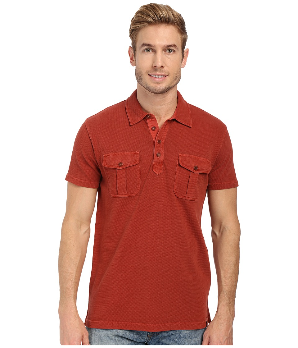 Lucky Brand - Polo Shirt (Burnt Henna) Men's Short Sleeve Knit