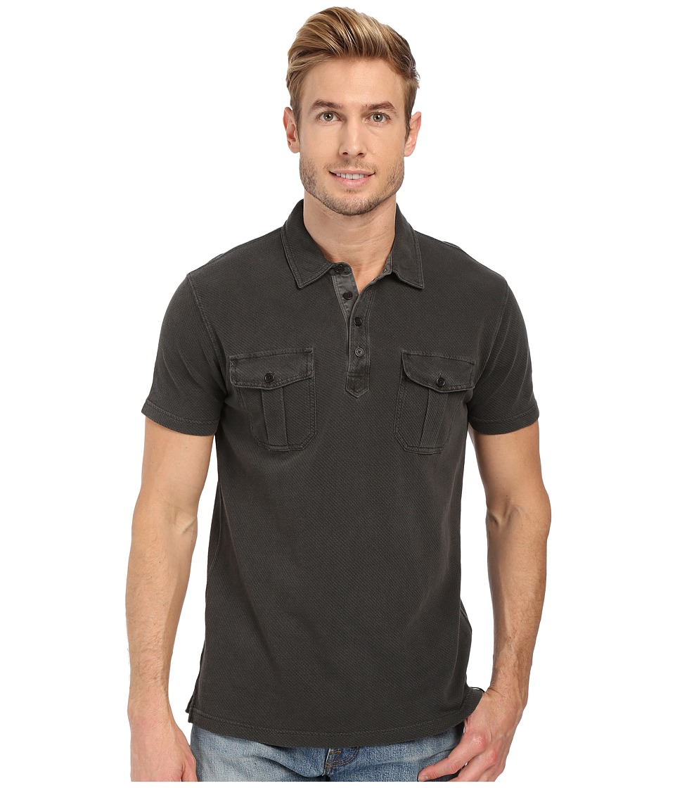 Lucky Brand - Polo Shirt (Jet Black) Men's Short Sleeve Knit