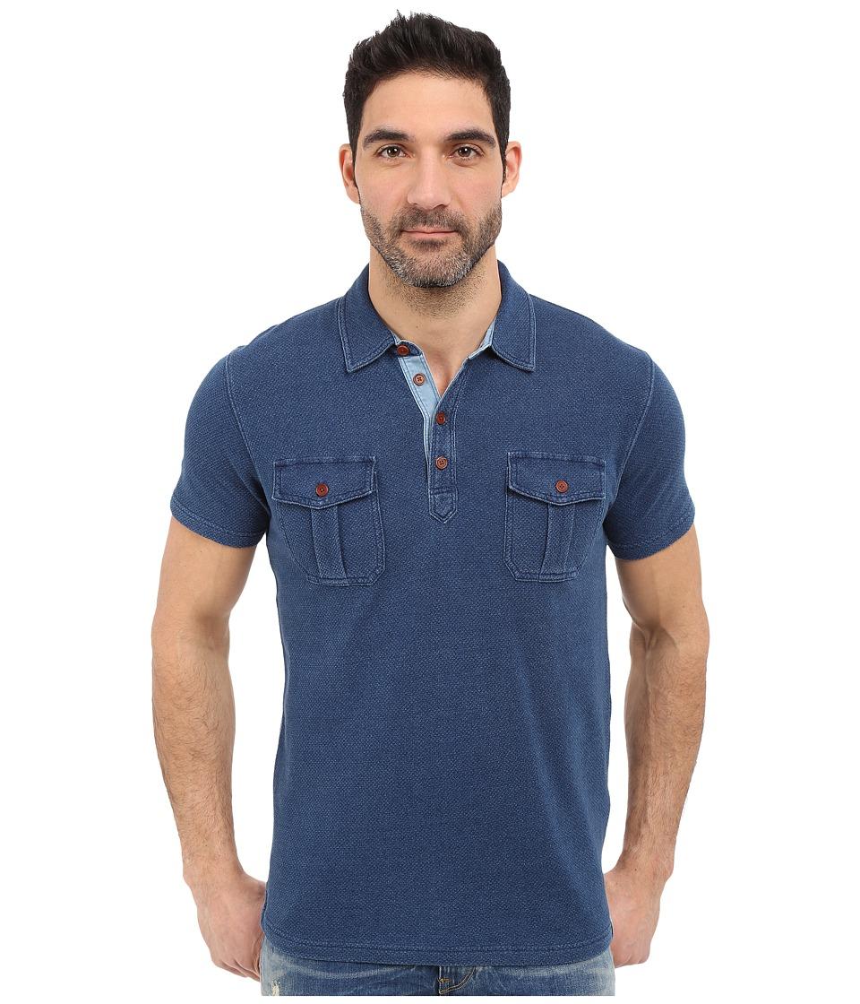 Lucky Brand - Polo Shirt (Indigo) Men's Short Sleeve Knit