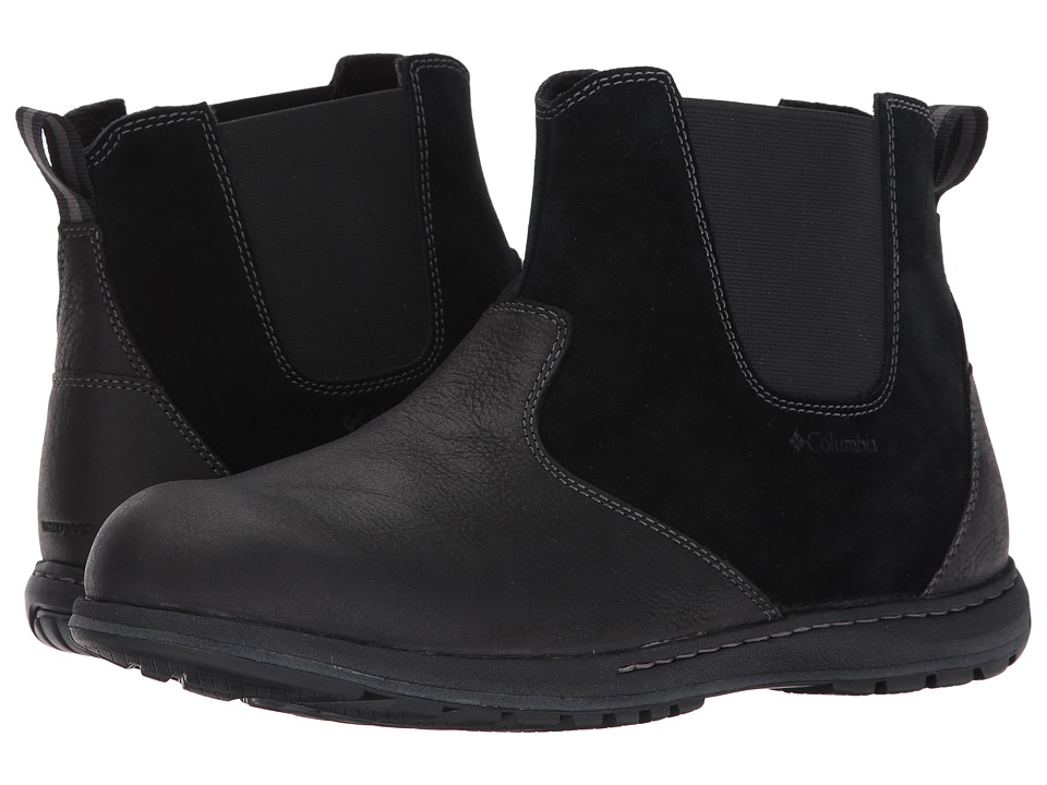 Columbia Davenport Chelsea Waterproof (Black/Dark Fog) Men