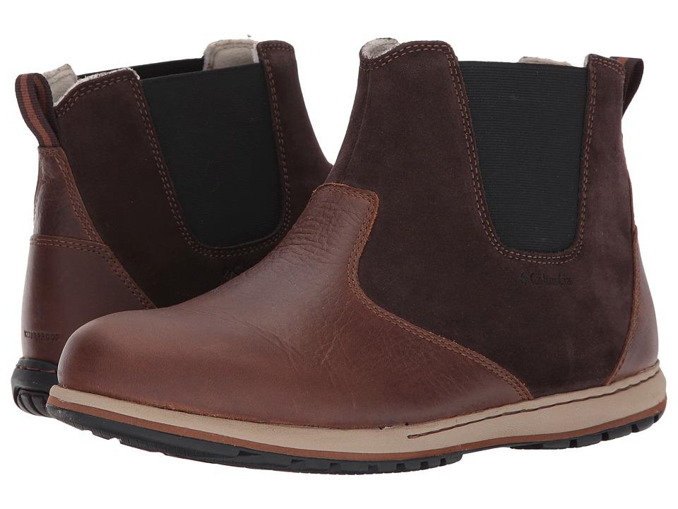 Columbia - Davenport Chelsea Waterproof (Hawk/Grizzly Bear) Men's Waterproof Boots