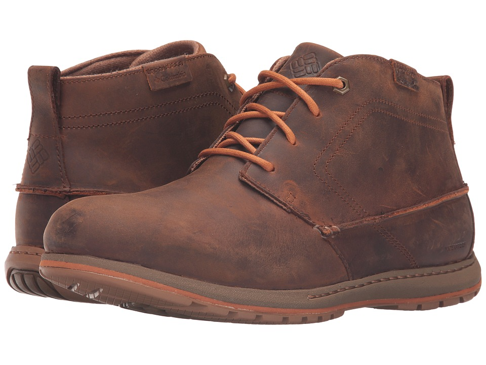 Columbia - Davenport Chukka Waterproof Leather (Elk/Bright Copper) Men's Waterproof Boots