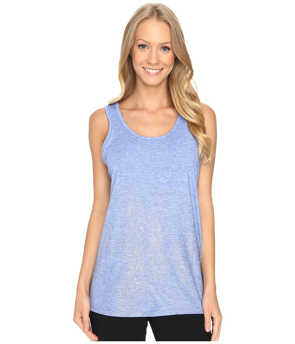 Brooks - Distance Tank Top (Heather Wave/Sol Shine) Women's Sleeveless