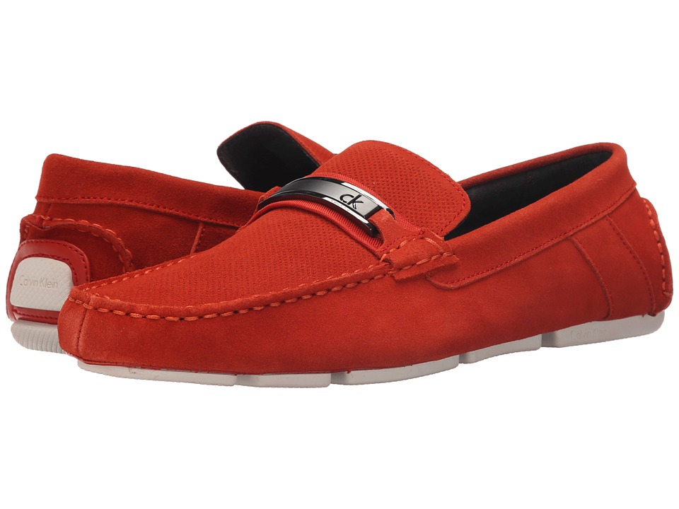 Calvin Klein - Marcell (Red/Orange Perf Suede) Men