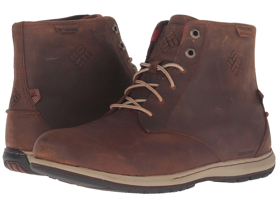 Columbia - Davenport Six Waterproof Leather (Elk/Buro) Men's Waterproof Boots