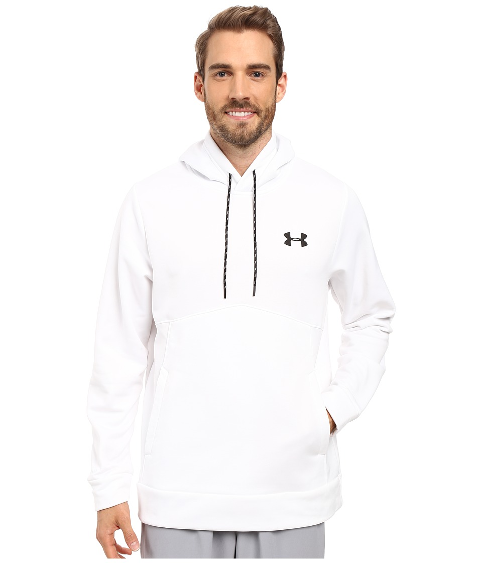 Under Armour - Storm Armour Fleece Icon Hoodie (True Gray Heather/Graphite/Black) Men's Sweatshirt