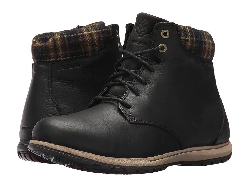 Columbia - Davenport XTM Waterproof Omni-Heat (Black/Madder Brown) Men's Waterproof Boots