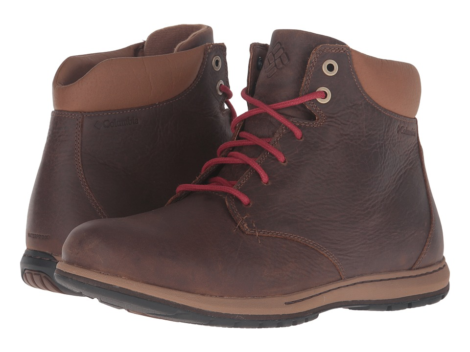 Columbia - Davenport XTM Waterproof (Hawk/Red Dahlia) Men's Waterproof Boots