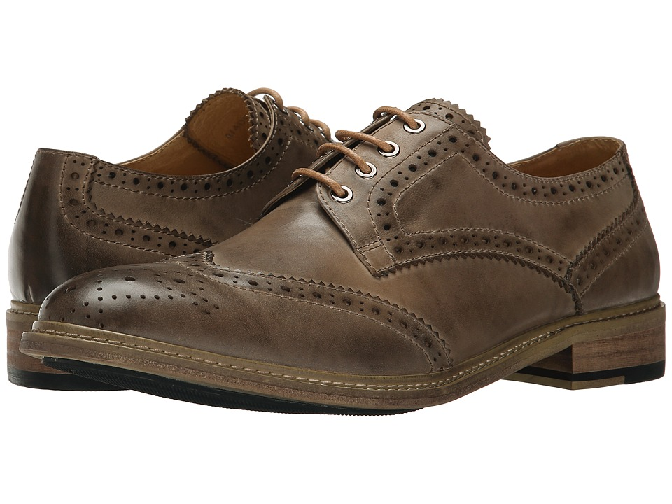 PRIVATE STOCK - Vintage Wing Tip (Grey) Men's Shoes