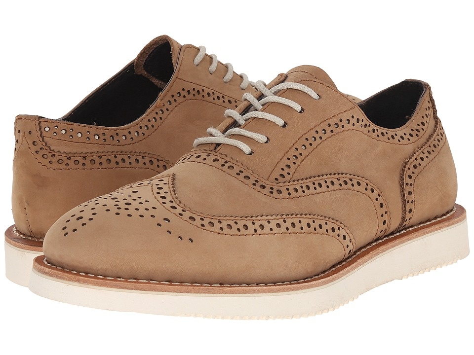 PRIVATE STOCK - Arras Brogue (Camel) Men's Lace Up Wing Tip Shoes