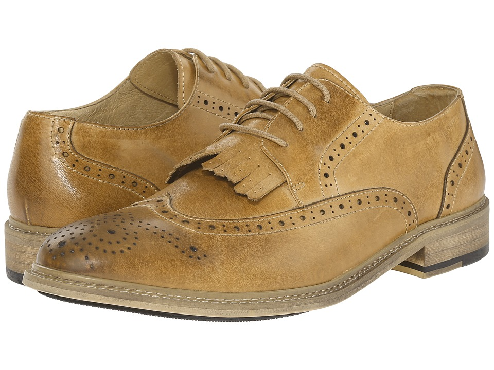 PRIVATE STOCK - Vintage Wingtip with Kiltie (Camel) Men's Shoes