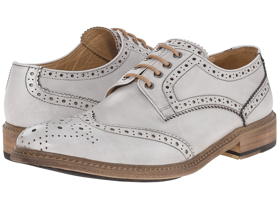 PRIVATE STOCK - Vintage Wing Tip (White) Men's Shoes plus size,  plus size fashion plus size appare