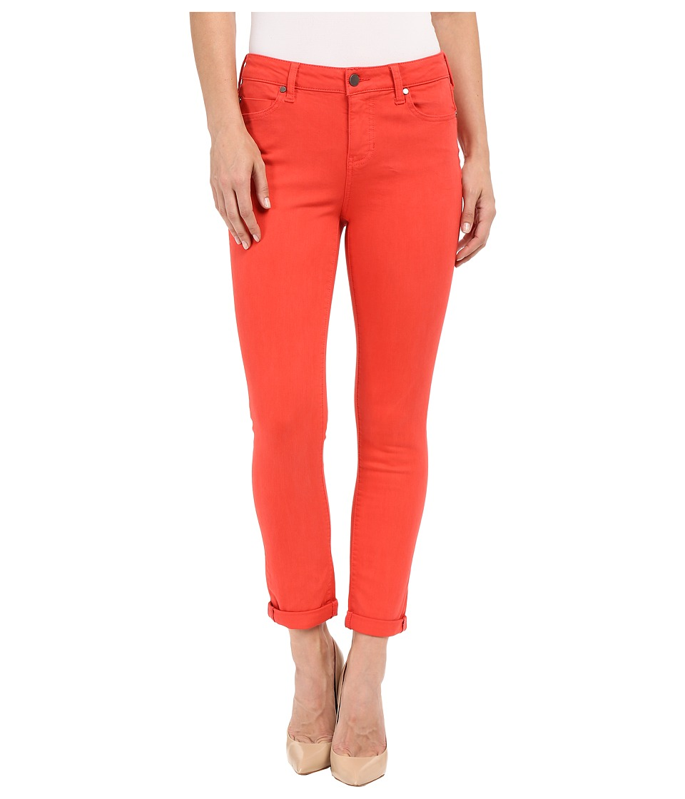 Liverpool - Cami Crop Slub Stretch Twill (Bittersweet Coral) Women's Casual Pants