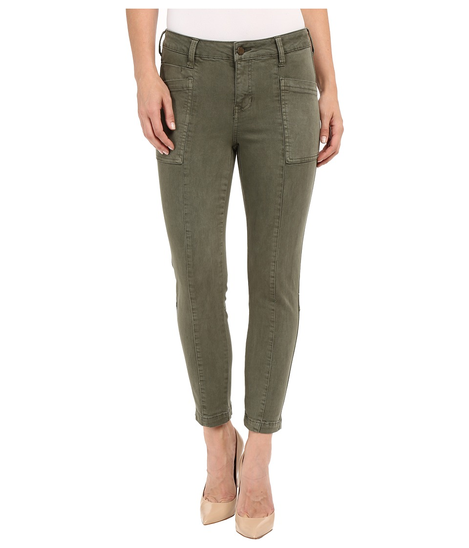 Liverpool - Kylie Cropped Cargo Slub Stretch Twill (Olive Night) Women's Casual Pants