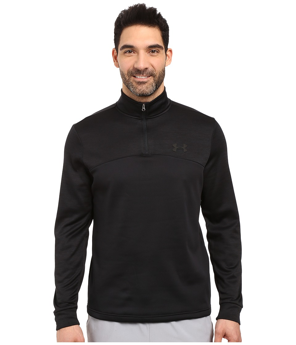 Under Armour - Armour Fleece Icon 1/4 Zip (Black/Black/Black) Men's Fleece
