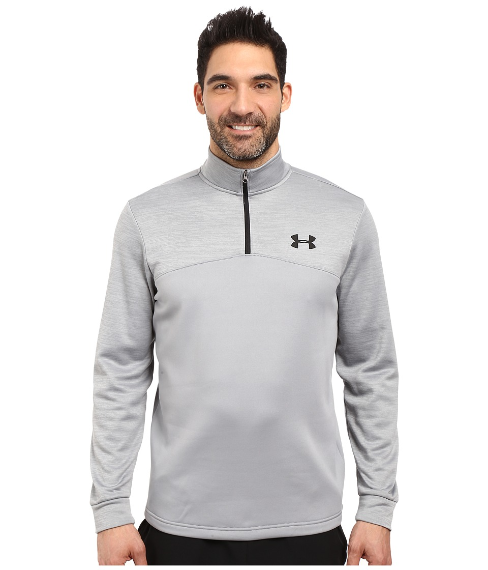 Under Armour - Armour Fleece Icon 1/4 Zip (Black/Black/Black) Men's Fleece