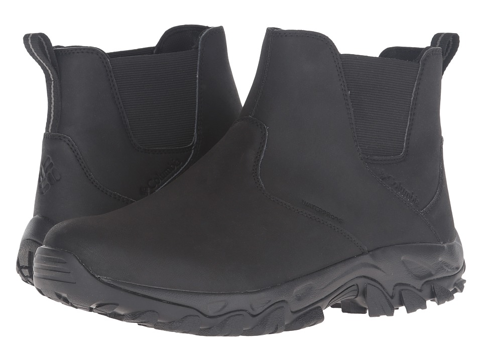 Columbia - Newton Ridge Plus Slip Waterproof (Black/Charcoal) Men's Waterproof Boots