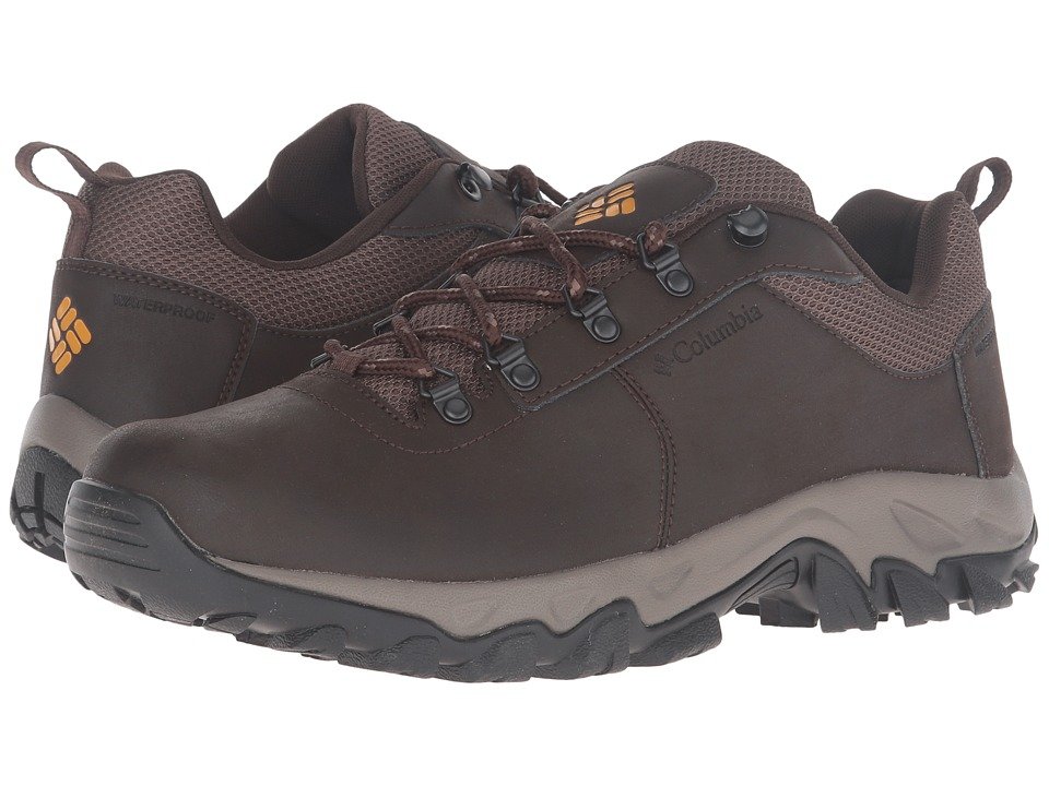 Columbia Newton Ridge Plus Low Waterproof (Cordovan/Squash) Men