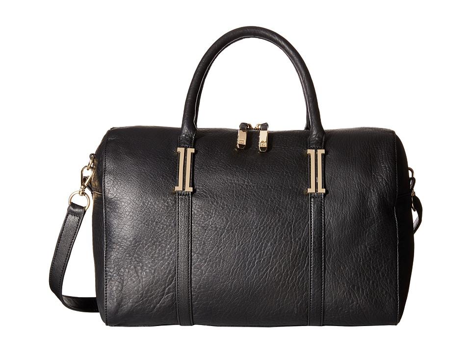 Ivanka Trump - Hudson Barrel Satchel (Black) Satchel Handbags