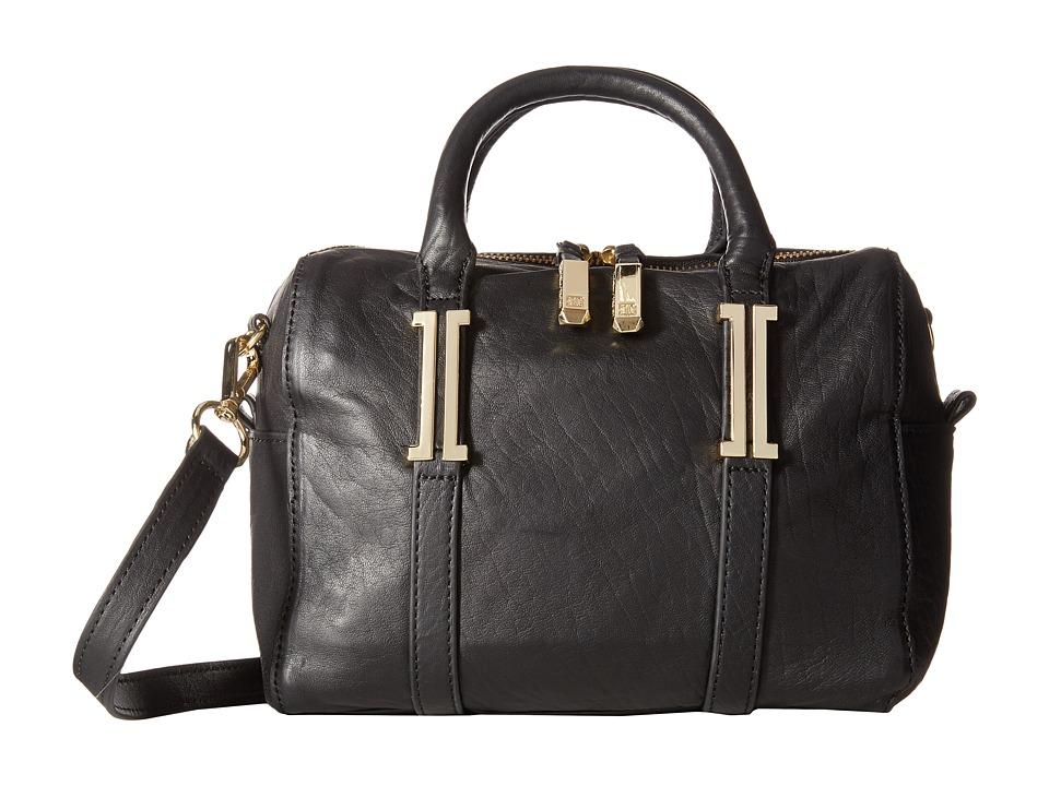 Ivanka Trump - Hudson Mini Barrel Satchel (Black) Satchel Handbags