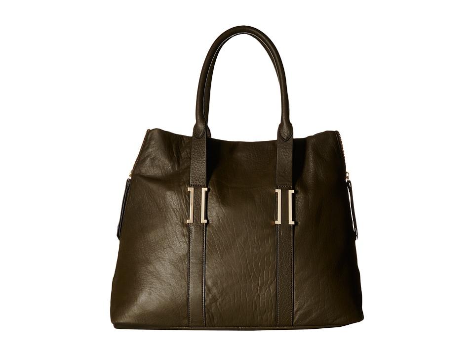 Ivanka Trump - Hudson Large Satchel (Dark Ivy) Satchel Handbags