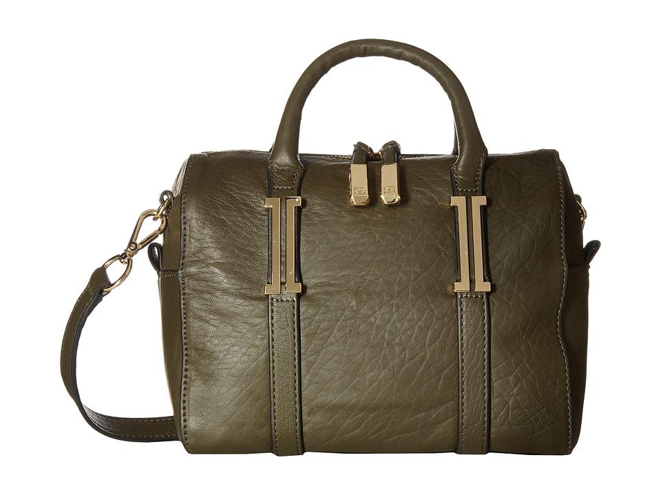 Ivanka Trump - Hudson Mini Barrel Satchel (Dark Ivy) Satchel Handbags