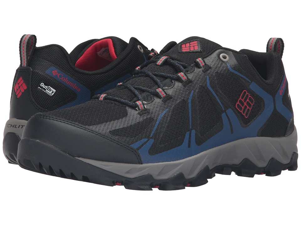 Columbia - Peakfreak XCRSN II Xcel Low Outdry (Black/Bright Red) Men's Shoes