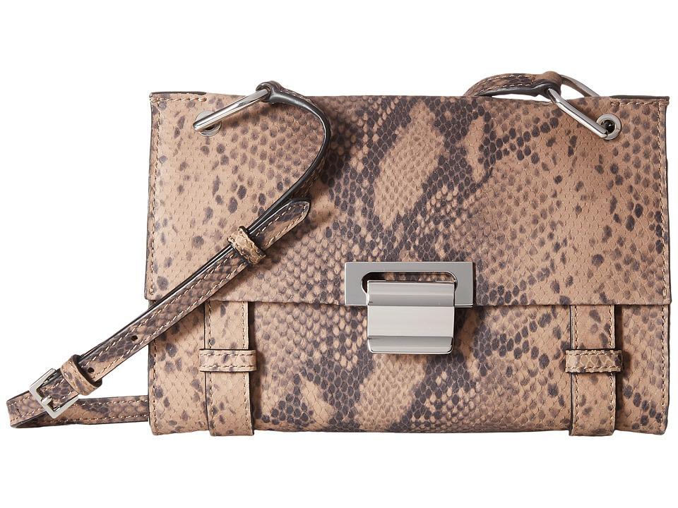 Ivanka Trump - Turnberry Crossbody (Pale Taupe Snake) Cross Body Handbags