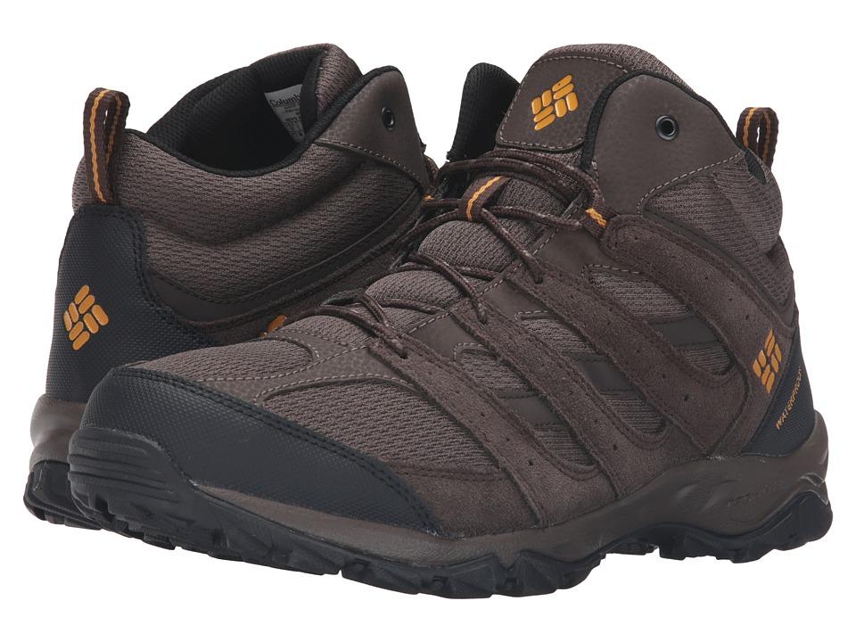 Columbia - Plains Butte Mid Waterproof (Cordovan/Squash) Men's Waterproof Boots