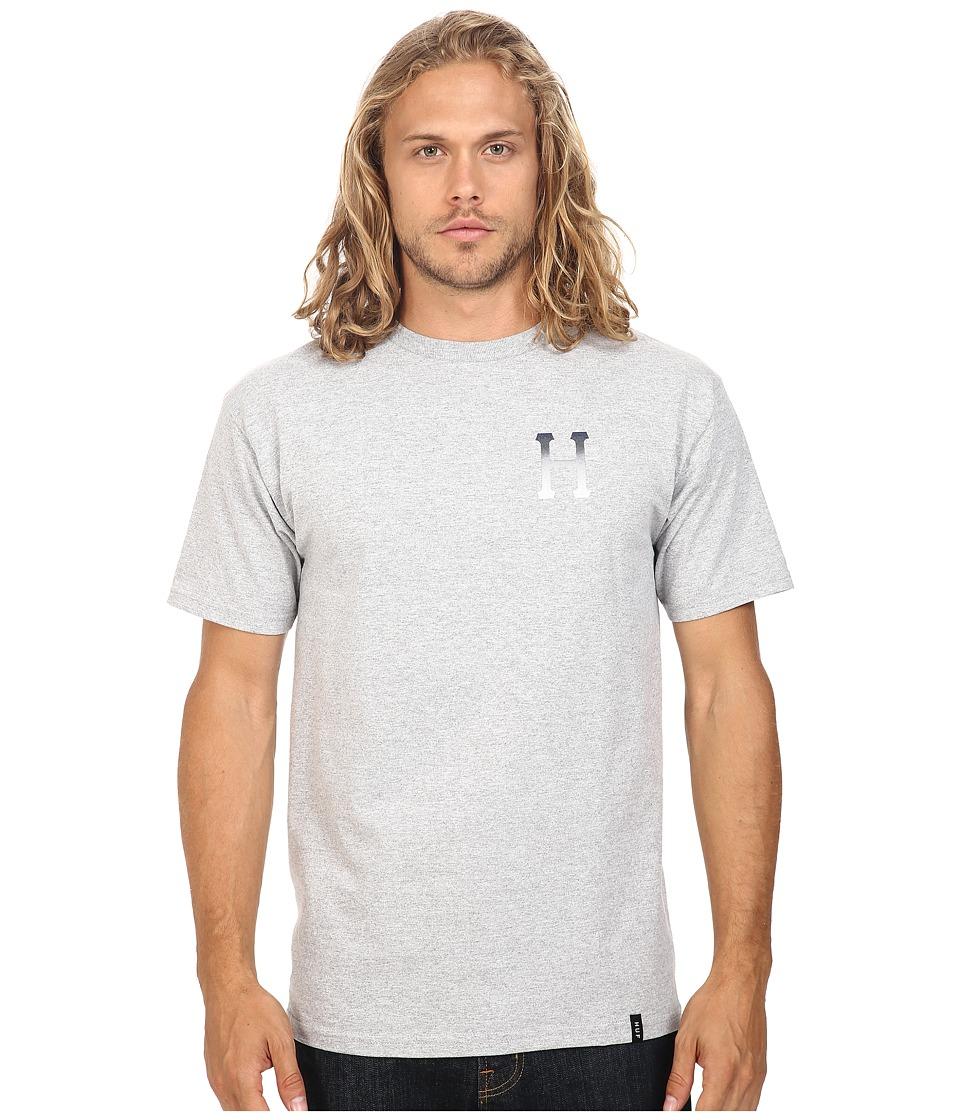 HUF - Classic H Halftone Gradient Tee (Grey Heather) Men's T Shirt