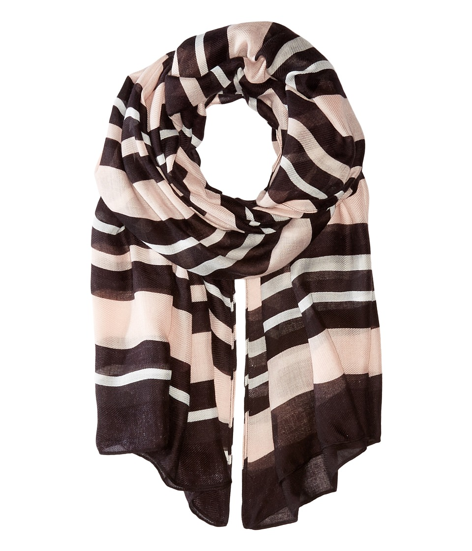 Ivanka Trump - Bold Stripe Oblong (Mauve Chalk) Scarves