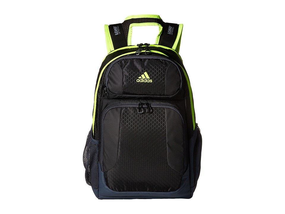 adidas - Strength Backpack (Black/Shock Slime/Deepest Space) Backpack Bags
