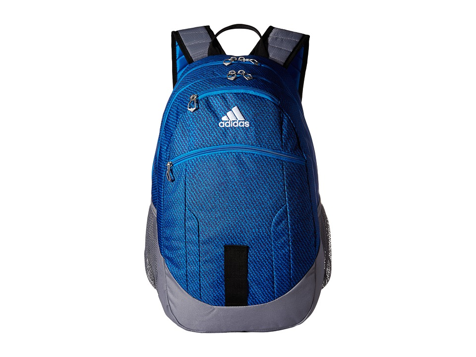 adidas - Foundation II Backpack (Twills Bright Blue/Bright Blue/Grey/Black) Backpack Bags