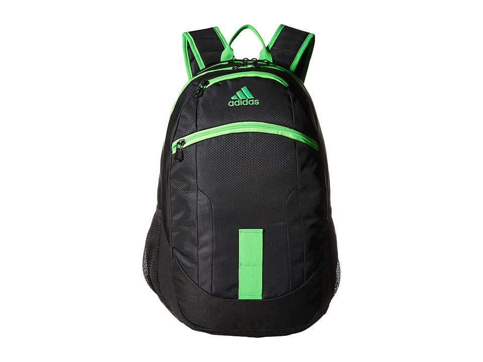 adidas - Foundation II Backpack (Black/Solar Green) Backpack Bags