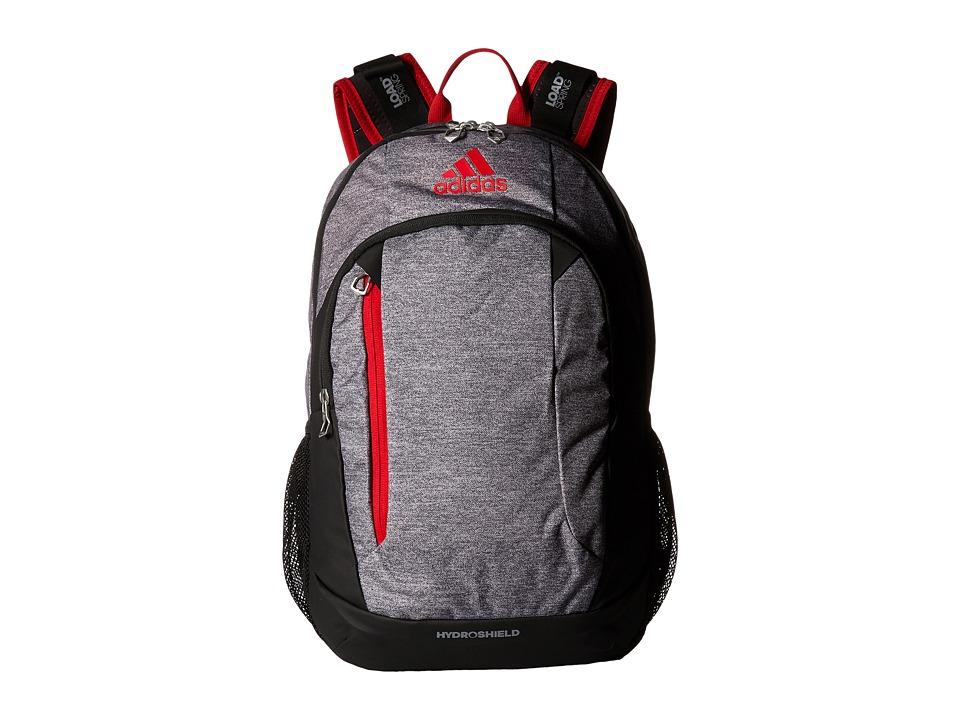 adidas - Mission Backpack (Heather Granit/Scarlet/Black) Backpack Bags