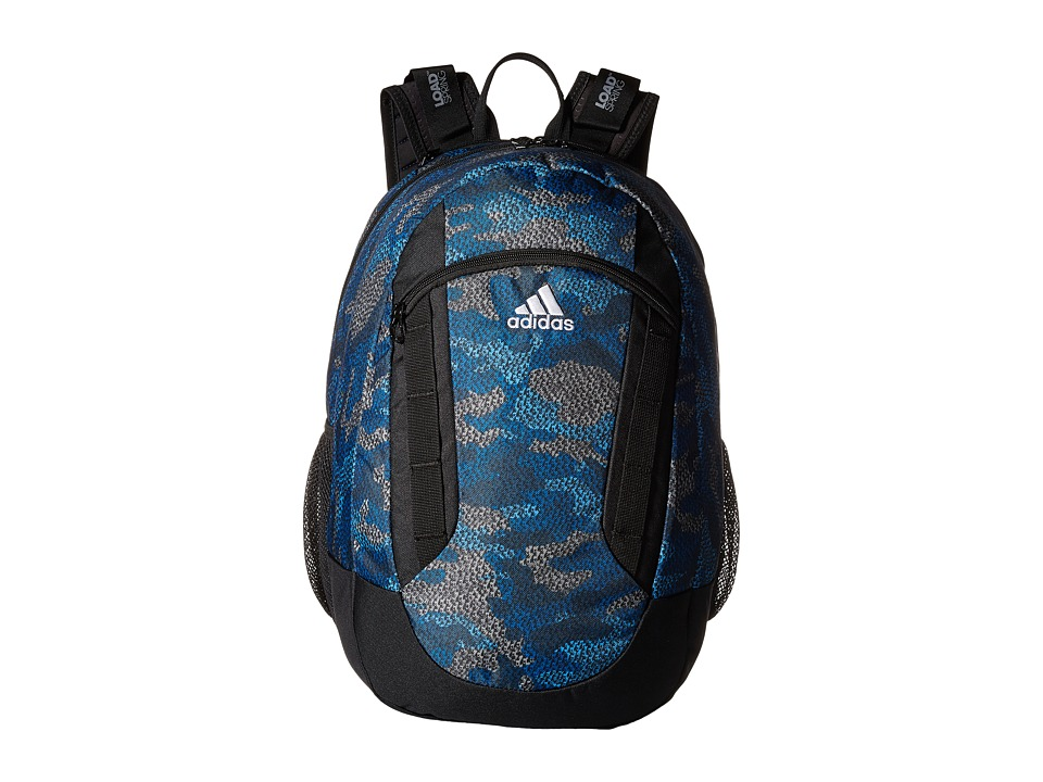 adidas - Excel II Backpack (Prime Camo Bold Blue/Black/Grey) Backpack Bags