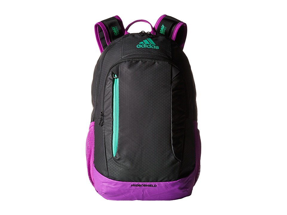 adidas - Mission Backpack (Black/Shock Purple/Bright Green) Backpack Bags