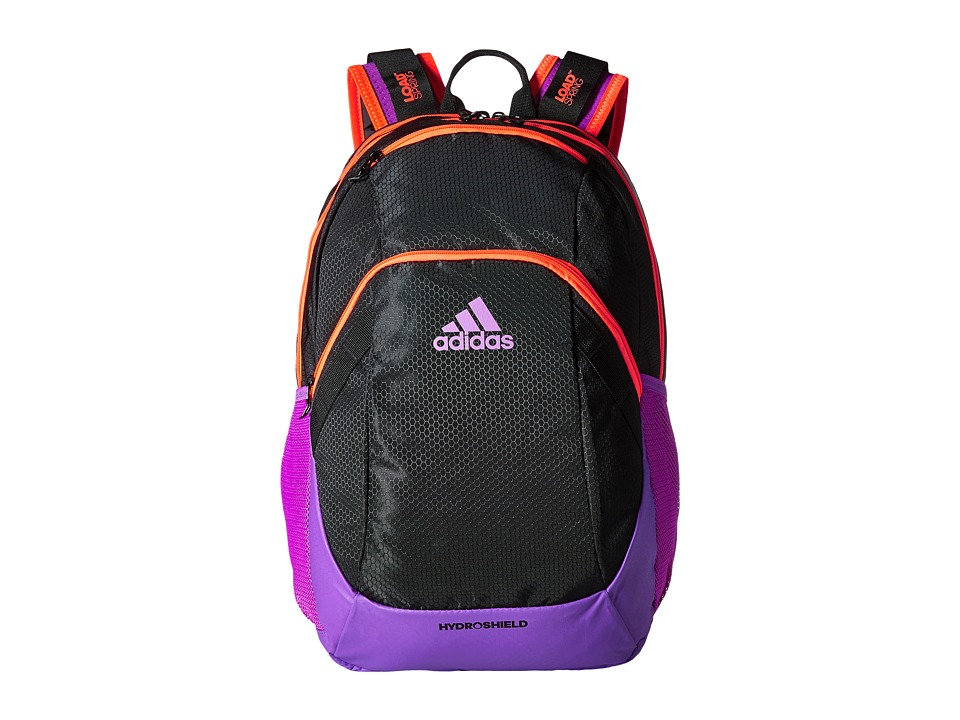 adidas - Pace Backpack (Black/Solar Red/Shock Purple) Backpack Bags