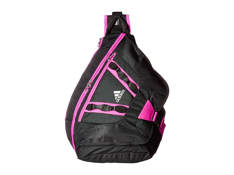 adidas - Capital II Sling (Black/Shock Pink) Backpack Bags