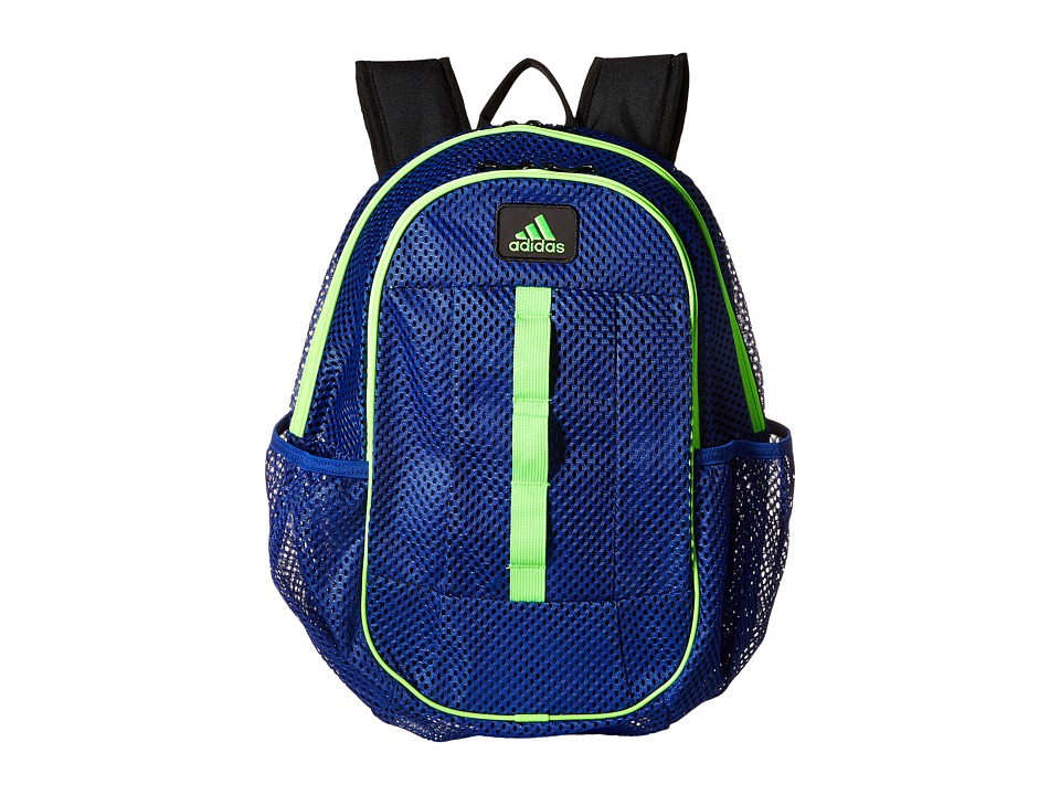 adidas - Hermosa Mesh Backpack (Bold Blue/Solar Green) Backpack Bags