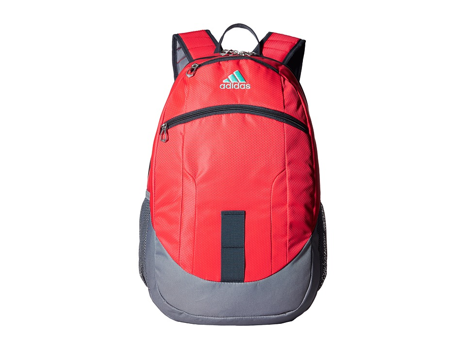 adidas - Foundation II Backpack (Shock Red/Grey/Deepest Space/Ice Green) Backpack Bags